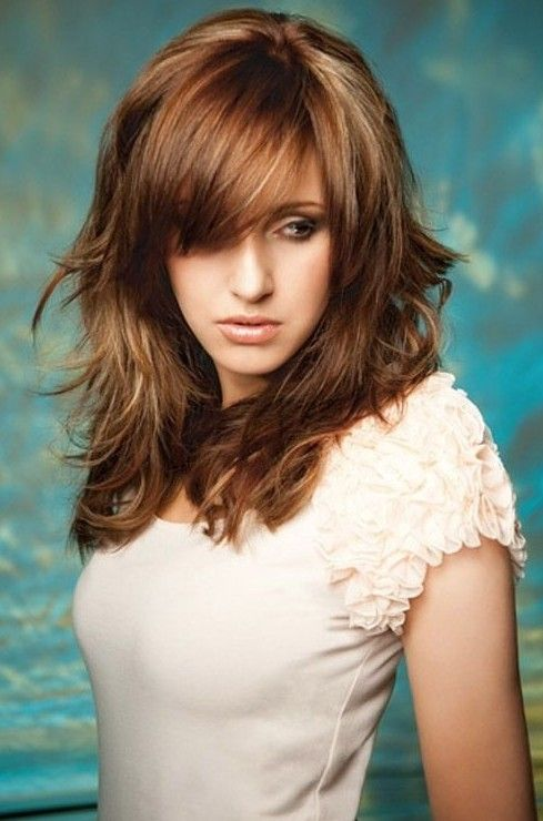 Long Layered Hairstyles with Bangs