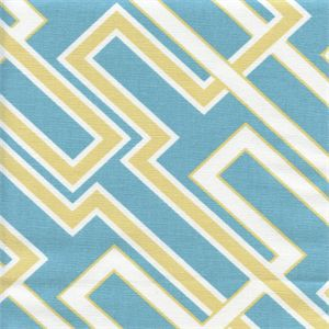 This is a beautiful blue and yellow contemporary drapery fabric by Premier Prints. This fabric is perfect for any home decorating project.V114IFR