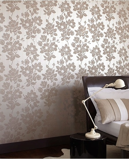 30395 Kelly Hoppen Rose Beige,Gold Floral Wallpaper