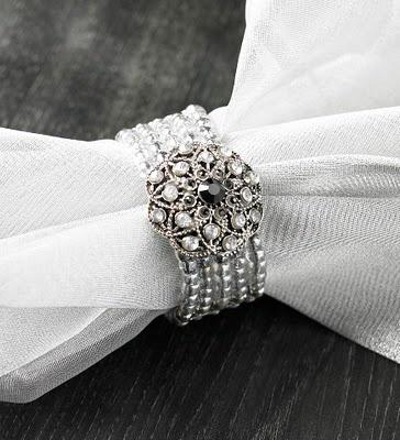 napkin ring or repurposed bracelet