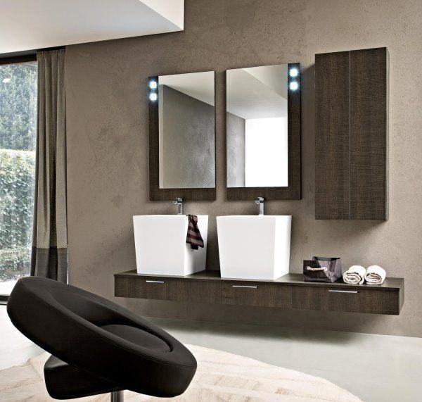 Black bathroom furniture for classy interiors.