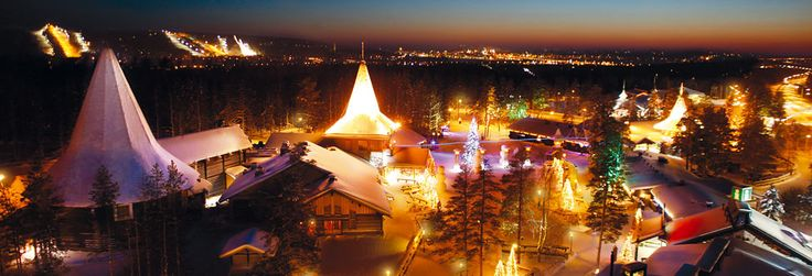 Santa Claus Village in the Artic Circle, Finland.  Its COLD in December trust me