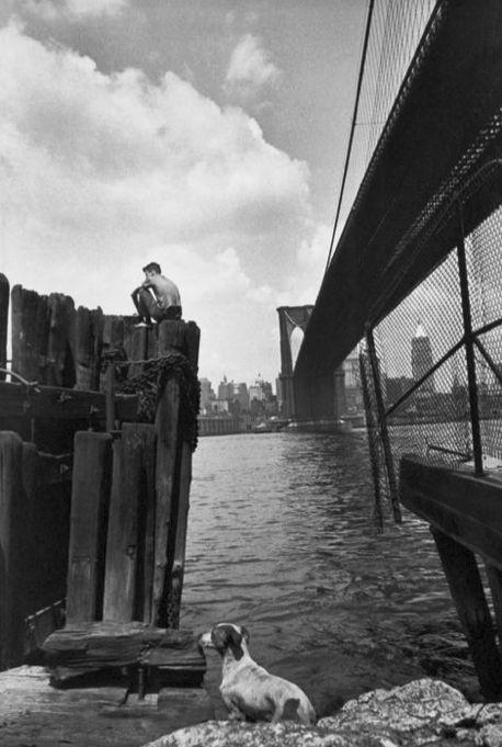 Brooklyn Bridge Nowy Jork 1947 Zdjęcie: Henri Cartier-Bresson