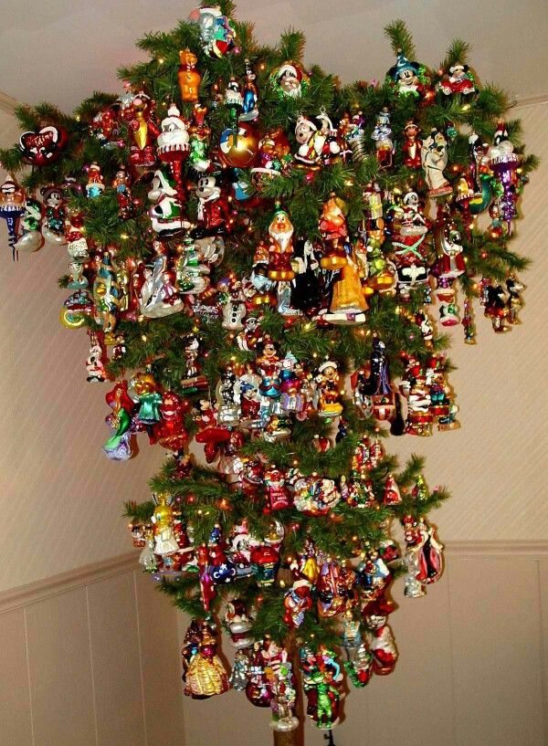 Upside down Christopher Radko Christmas ornaments tree - great space saver  and gentle on ornaments | O Tannenbaum | Pinterest | Upside down christmas  tree, ... - Upside Down Christopher Radko Christmas Ornaments Tree - Great Space
