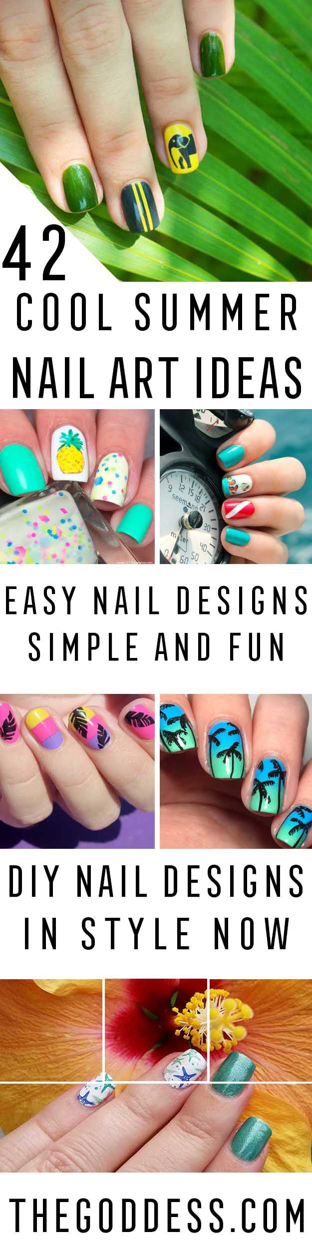The 44 best 42 Cool Summer Nail Art Ideas images on Pinterest   Easy ...