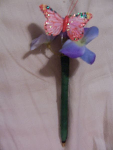 How To Make Decorative Pens How To Butterfly Crafts