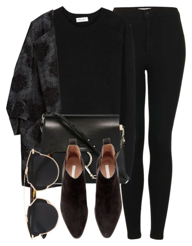 """Untitled #5098"" by laurenmboot ❤ liked on Polyvore featuring Topshop, Yves Saint Laurent, Zara, Chloé, H&M, Christian Dior, women's clothing, women's fashion, women and female"