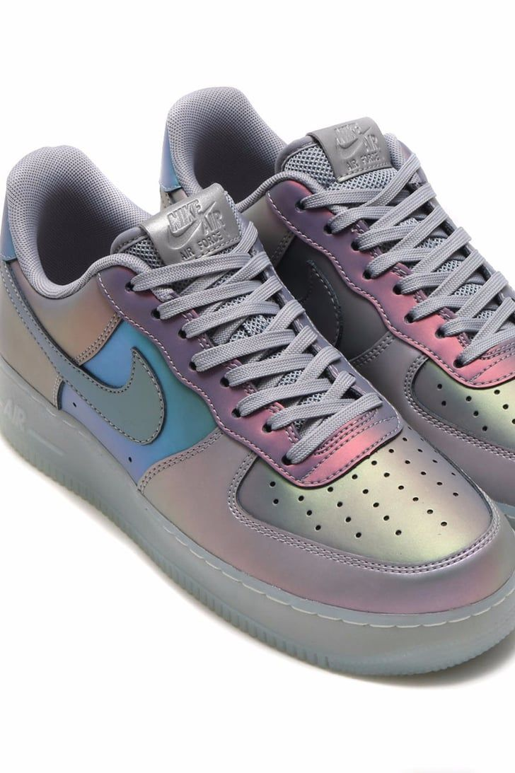 new product c5f7d 3f56e Step Up Your Street Style With the Color-Changing Iridescent Nike Air Force  1s