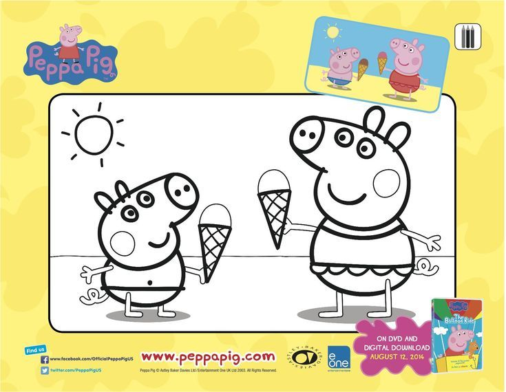 Your Free Peppa Pig Coloring And Activity Pages Page