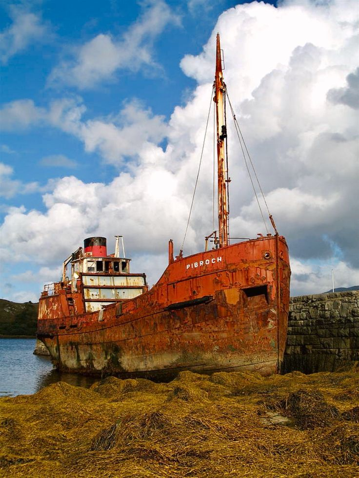 The Fate Of Poor Pibroch is a photograph by Porter Glendinning. The clyde puffer, Pibroch, rusting away in Letterfrack, Galway. Source fineartamerica.com