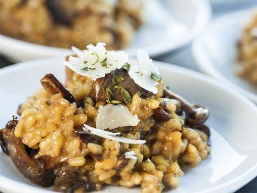 Hříbkové risotto a parmazánovou hoblinou - Recepty na každý den
