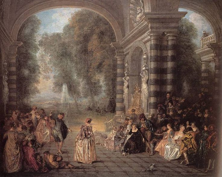 NTK art- In the 1730's a new artistic style called, rococo, spread throughout Europe. In rococo style artists would use shades of gold and ivory. Rococo style was charming, gentle, and graceful. Rococo style was highly secular.