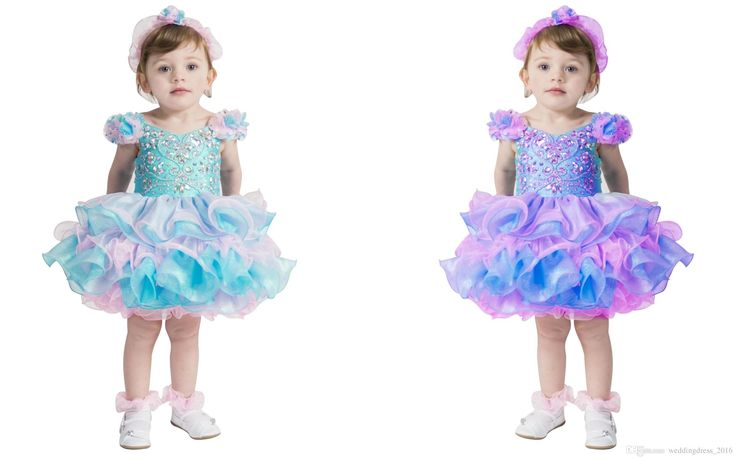 Pretty Lilac Capped Shoulder Infant Mini Skirt Toddler Cupcake Dress Ball Gowns Little Girls Jewel Neckline Beaded Organza Pageant Dresses Cheap Pageant Dresses For Juniors Flowers Girls Dresses From Weddingdress_2016, $66.04| Dhgate.Com