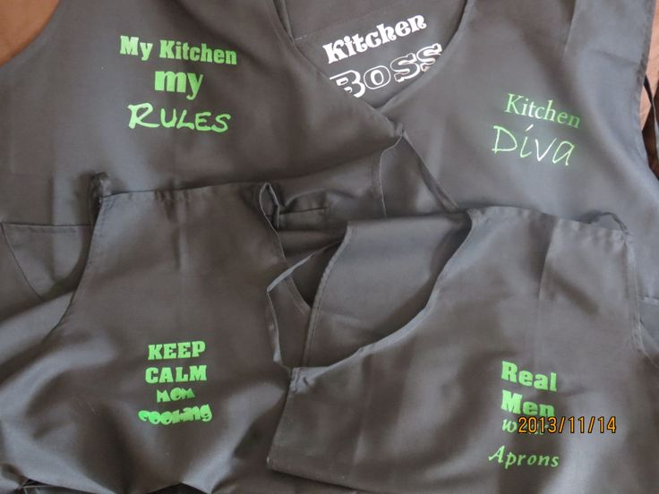 adult aprons available in various colours
