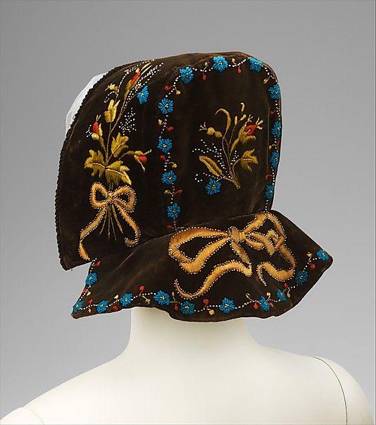 Bonnet Date: fourth quarter 19th century Culture: Swedish Medium: silk, metal, glass