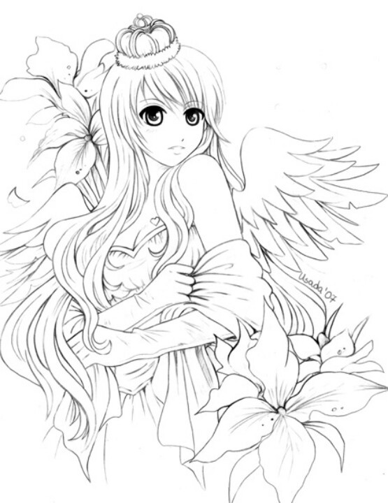 15 best Coloriage d\'ange images on Pinterest | Coloring books ...