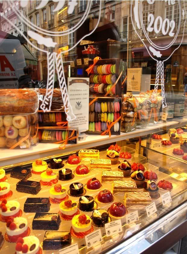 Fauchon, Paris. Where we took photographs of the beautiful windows