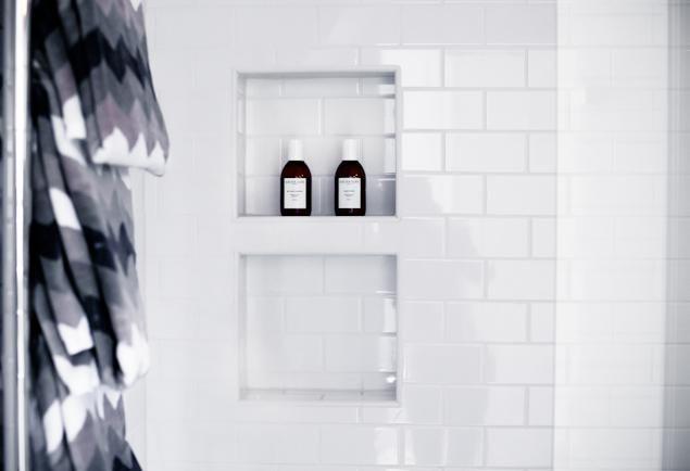 HofP - Inbyggd hylla i duschen