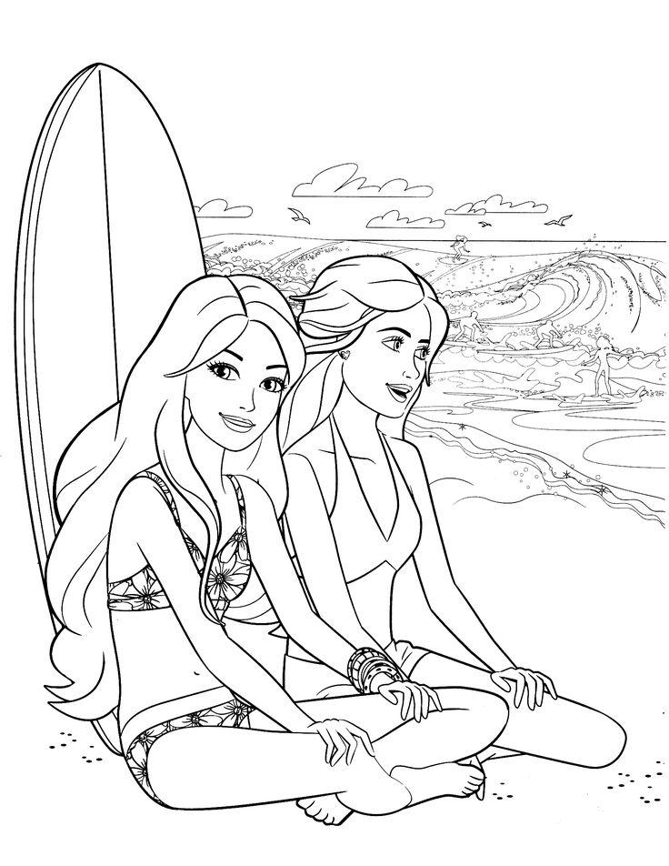 Barbie Friends Coloring Pages