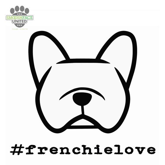French bulldog decal  FrenchieLove  car vinyl by SmooshfaceUnited