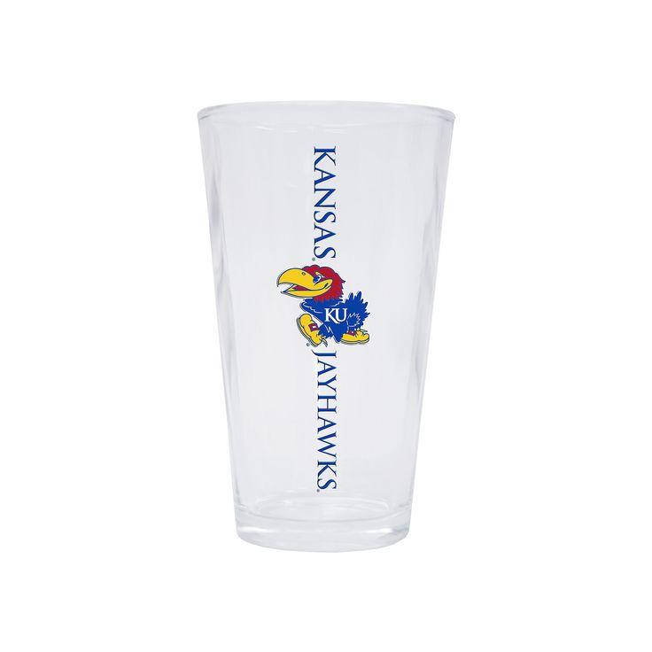 Kansas Jayhawks 2-Pack Pint Glass Set, Multicolor