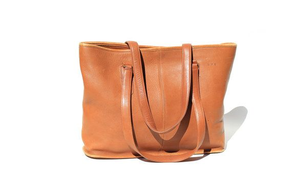 Bronze Eucalyptus COACH Tote Bag by TanakaVintage on Etsy