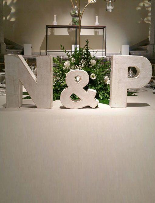 Letras para bodas decorativas (25 cm)