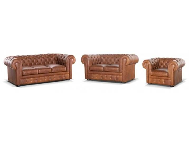 Chesterfield Ledergarnitur Mit Bettfunktion Matratze London 3 2 1 Vintage Look Couchgarnitur Polster Chesterfield