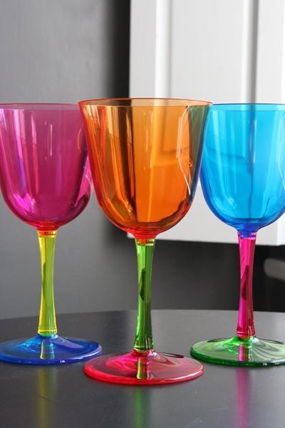 Rainbow Wine Glasses Wine Pinterest