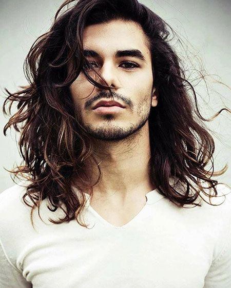Image result for long hair male styles
