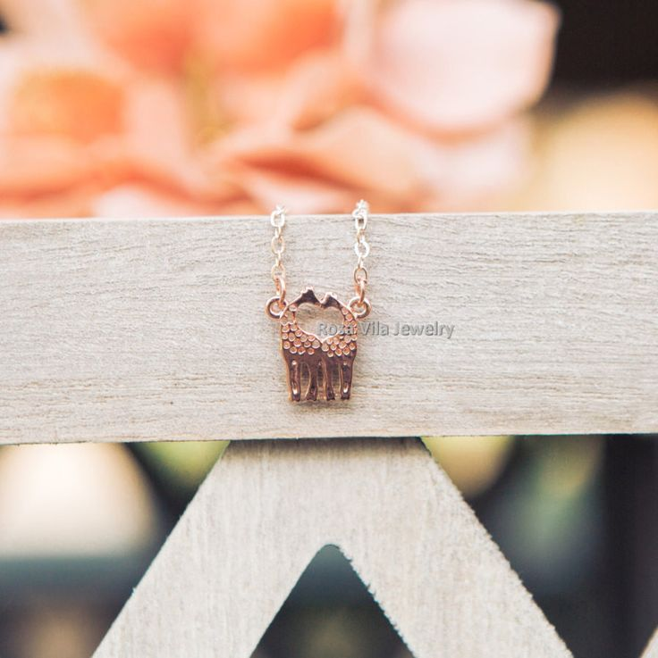 Dainty Love Giraffe Necklace - 3 colors available, rose gold, gold and silver