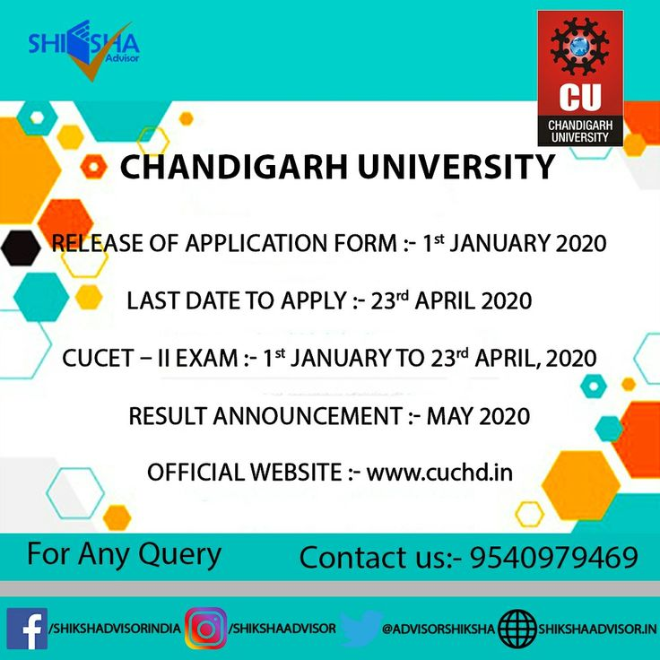 Chandigarh University 2020 Application Form For Cucet Ii Has Been