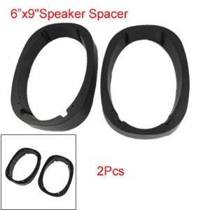 """6 X 9 Inch Angled Plastic Speaker Spacers 2 Pcs for Car Vehicle by uxcell. $9.72. This pair of  car speaker spacers are made of plastic material; Angled 6"""" x 9"""" stable plastic speaker spacer angles the speakers towards the listening position in the vehicle."""