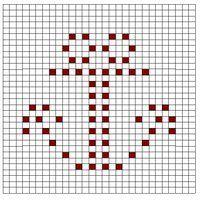 Crochet Bobble Stitch Chart Anchor