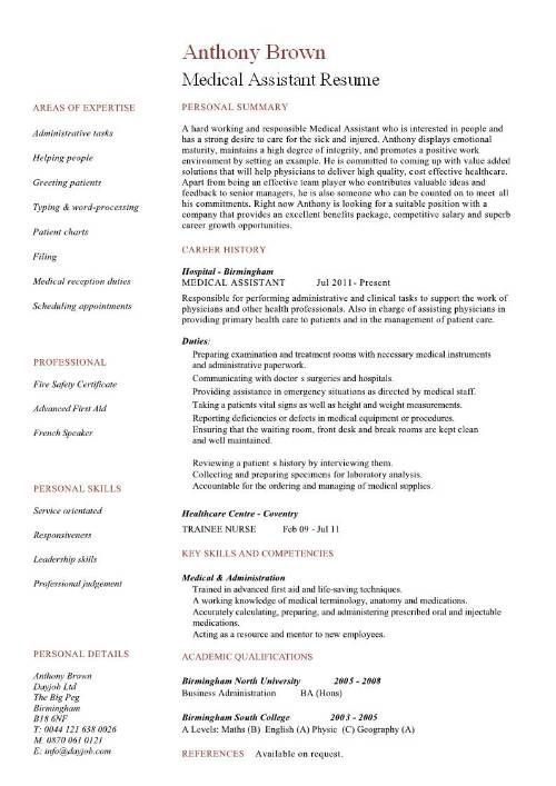 Resume Examples Medical Assistant #assistant #examples #medical