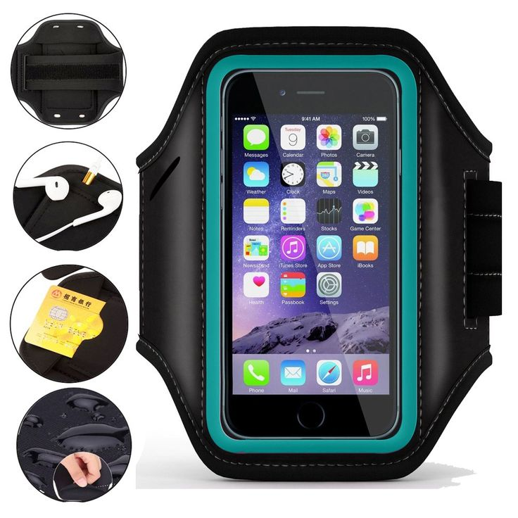 Armband for iPhone 7 / iPhone 6, UrSpeedtekLive Running Jogging Cycling Fitness Sports Armband Pouch for iPod Touch 6th / iPhone 5/5S/5C/SE (Build in Credit Card/Key Holder) - Teal