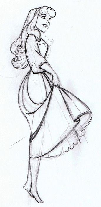 the art of the disney princess by glen keane | original sketch for princess Aurora