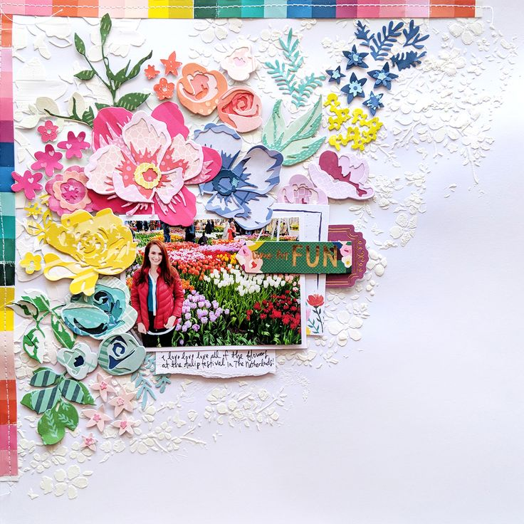Time for Fun Floral Layout for Scrapbook.com | Paige Taylor Evans