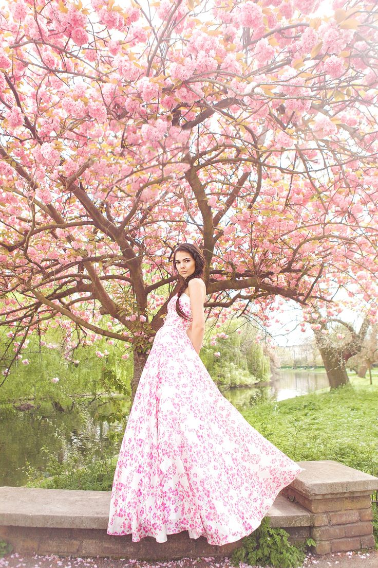 Blossoms and jewellery - Spring fashion editorial