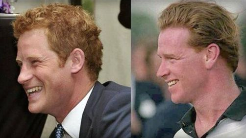 A lot of speculation over the years as to James Hewitt being the father of Prince Harry after a 5 year long affair with Harry's mother Princess Diana.  He certainly looks the spitting image of James Hewitt and not at all like Prince Charles.  Many speculate that this story has been accepted in royal circles but is hushed up for the media.