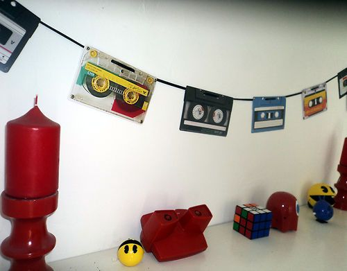 70s OR 80s Party Decoration Retro Cassette Tape Bunting 160cm | eBay