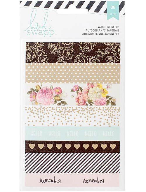 HEIDI SWAPP: Memory Planner Washi Stickers