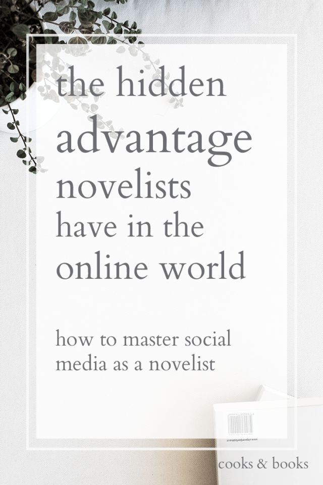 There's a secret sauce to marketing, and it's one that writers already excel at! Here, a literary agent explains how writers and novelists have a big advantage when it comes to standing out in the online world.  http://cooksplusbooks.com/2016/11/02/the-hidden-advantage-novelists-have-in-the-online-world/