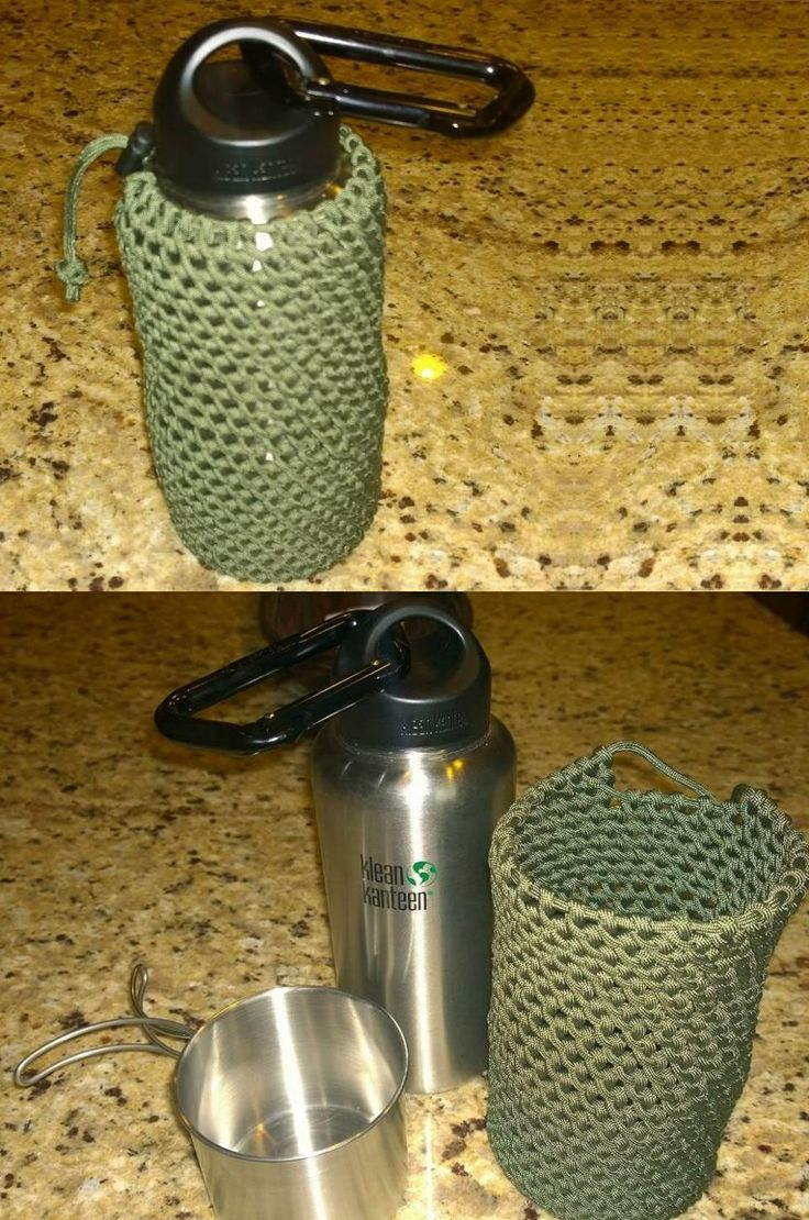 Kleankanteen nesting cup and about 100 feet of paracord for Paracord koozie how to make