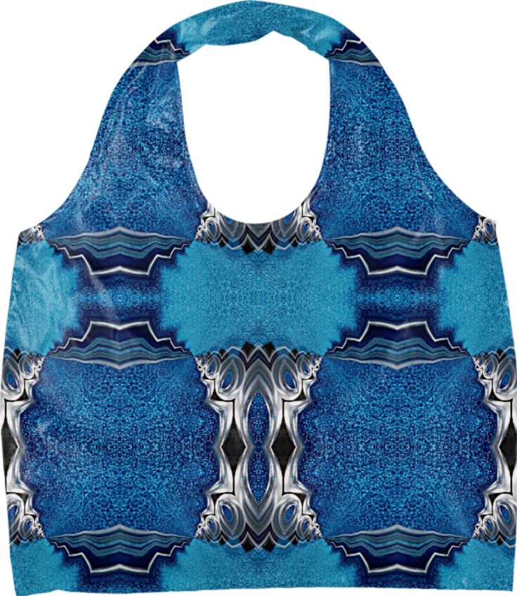 Eco bag  with the light of Norway geomeric pattern by Annabellerockz from Print All Over Me