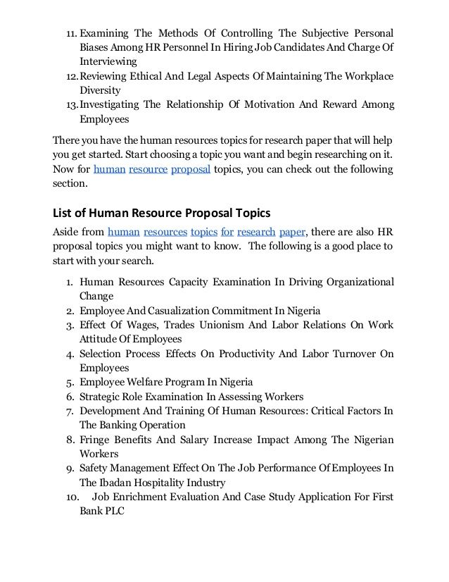 Discover Human Resources Management Topics For Research Paper That  Discover Human Resources Management Topics For Research Paper That Wo Get Help With Your Business Plan also Example Of Thesis Statement For Essay  Sample Of English Essay