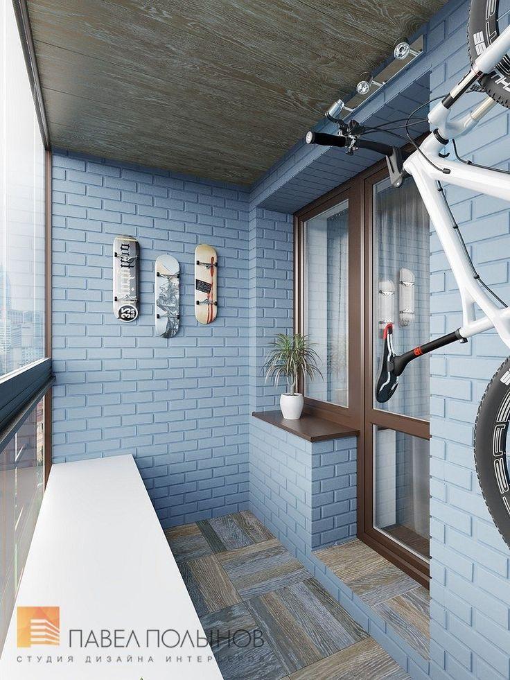 Фото: Лоджия - Интерьер квартиры в современном стиле, ЖК «Солнечный»