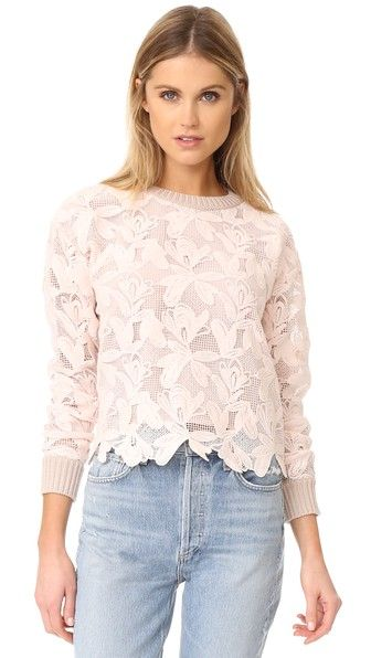 See by Chloe Lace Sweater | SHOPBOP