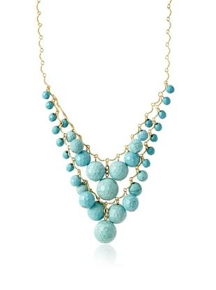 60% OFF David Aubrey Rissa Turquoise Fringe Necklace