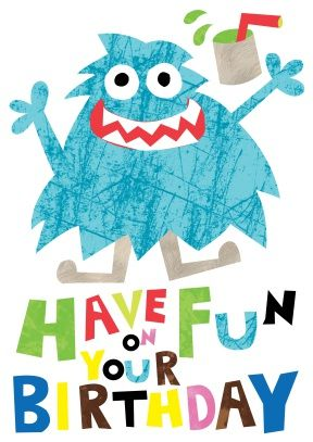 Monster | Childrens Happy Birthday Greeting Card | £2.99